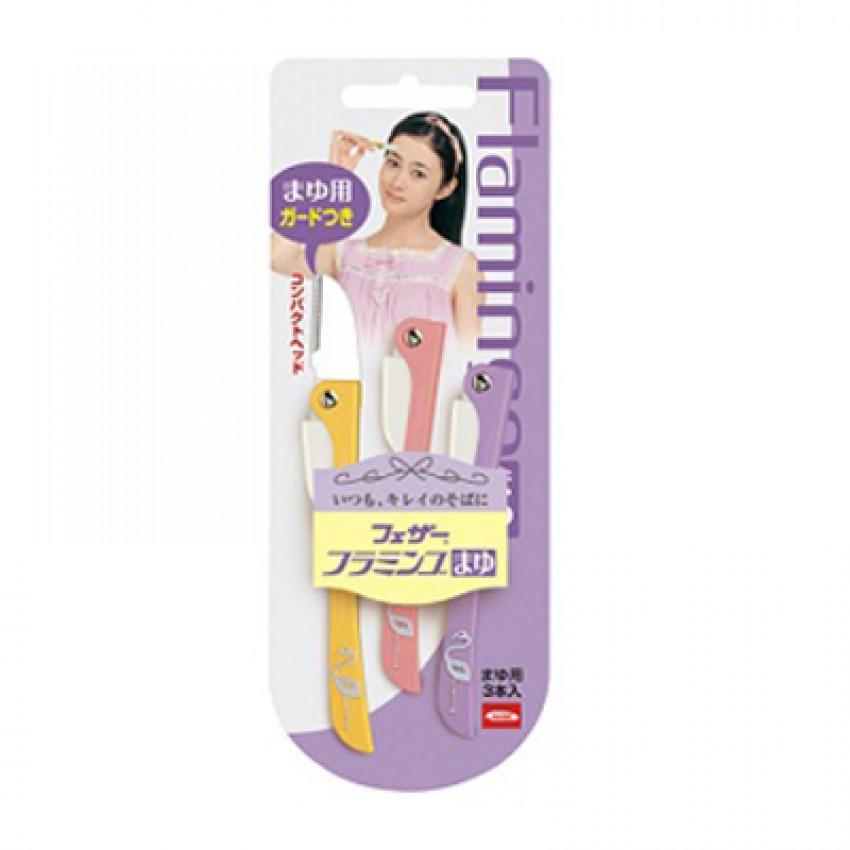Feather Flamingo Eyebrow Shaver 3pcs Japanese Package (ML) X 12PCS