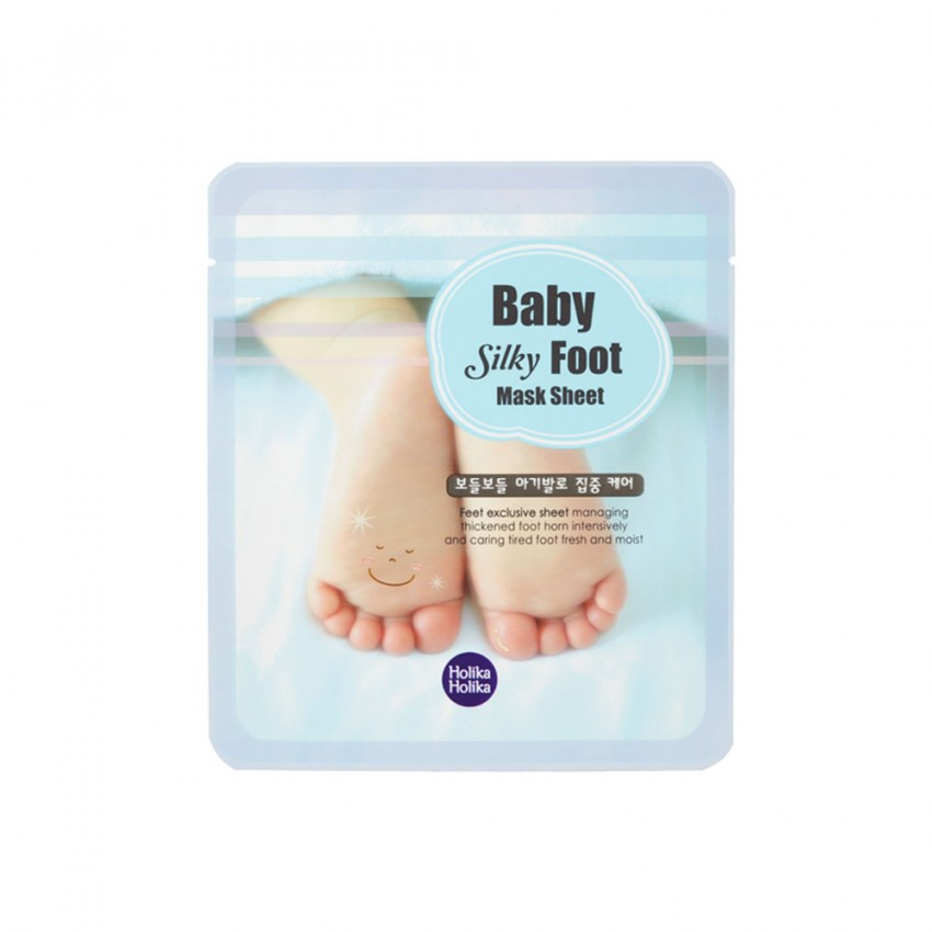 Holika Holika Baby Silky Foot Mask Sheet (2 Sheets/ 1 pair)  0.61fl.oz/18ml
