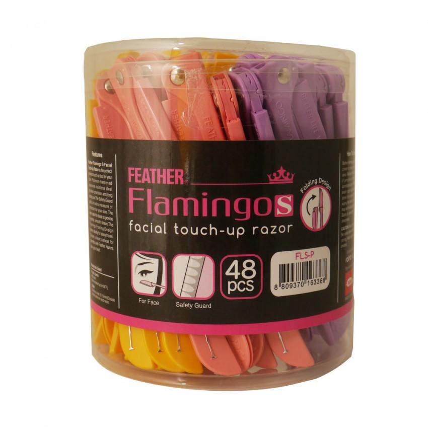 Feather Flamingos Facial Touch up Razor 48 Pieces