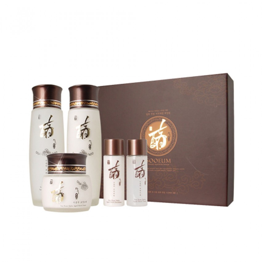 Dearderm Sooeum Perfectly Aged Herbal Skincare (3pcs) Set