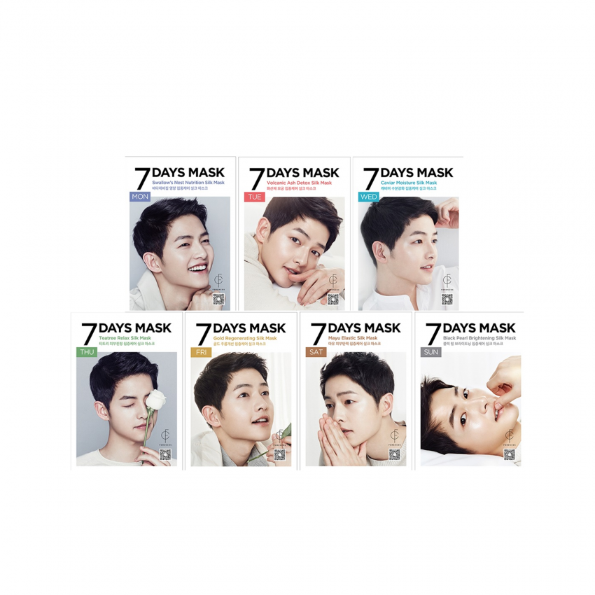 Forencos 7 Days Face Mask (Song Joong Ki Mask) - 7 Sheets  0.84fl.oz/25ml