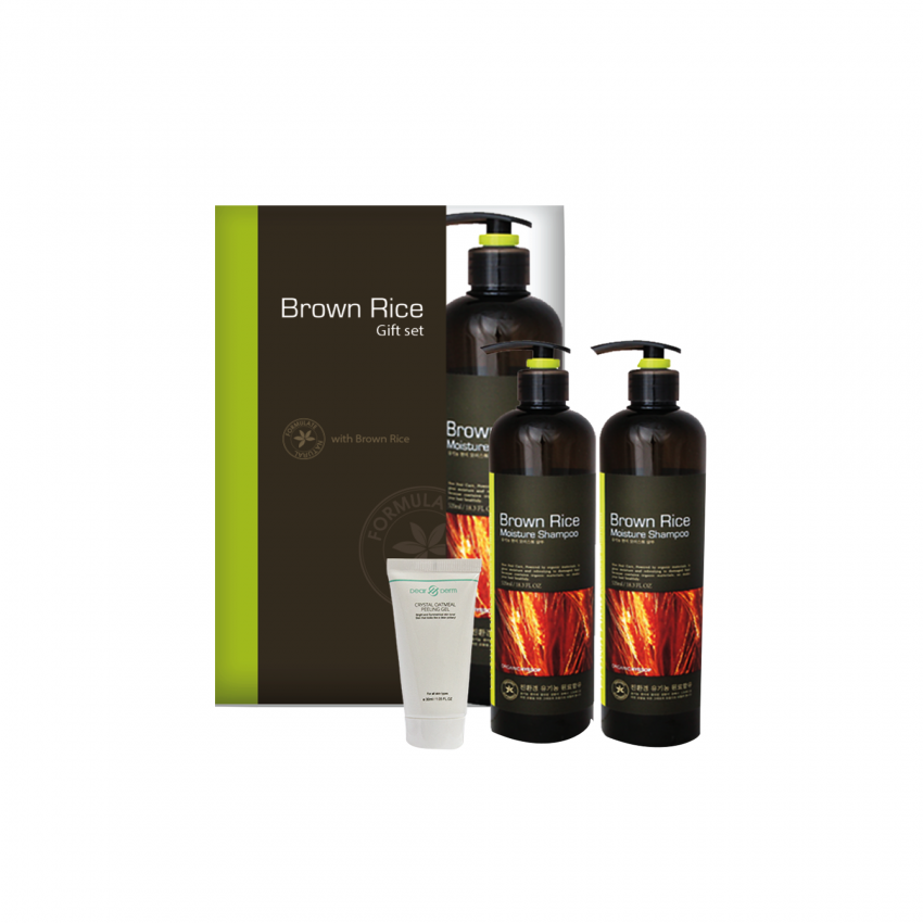 Brown Rice Hair 2pcs Set ( Shampoo, Conditioner)