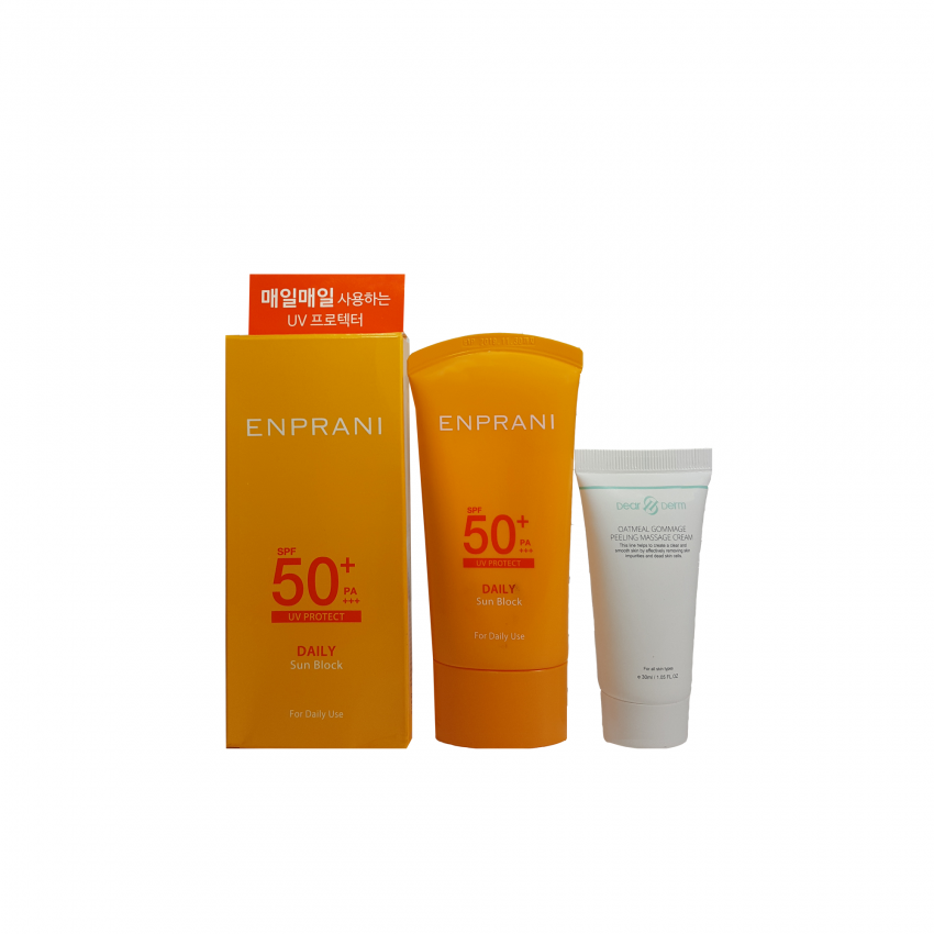 Enprani Daily Sun Block Set  UV Protect SPF50 2.36fl.oz/70ml