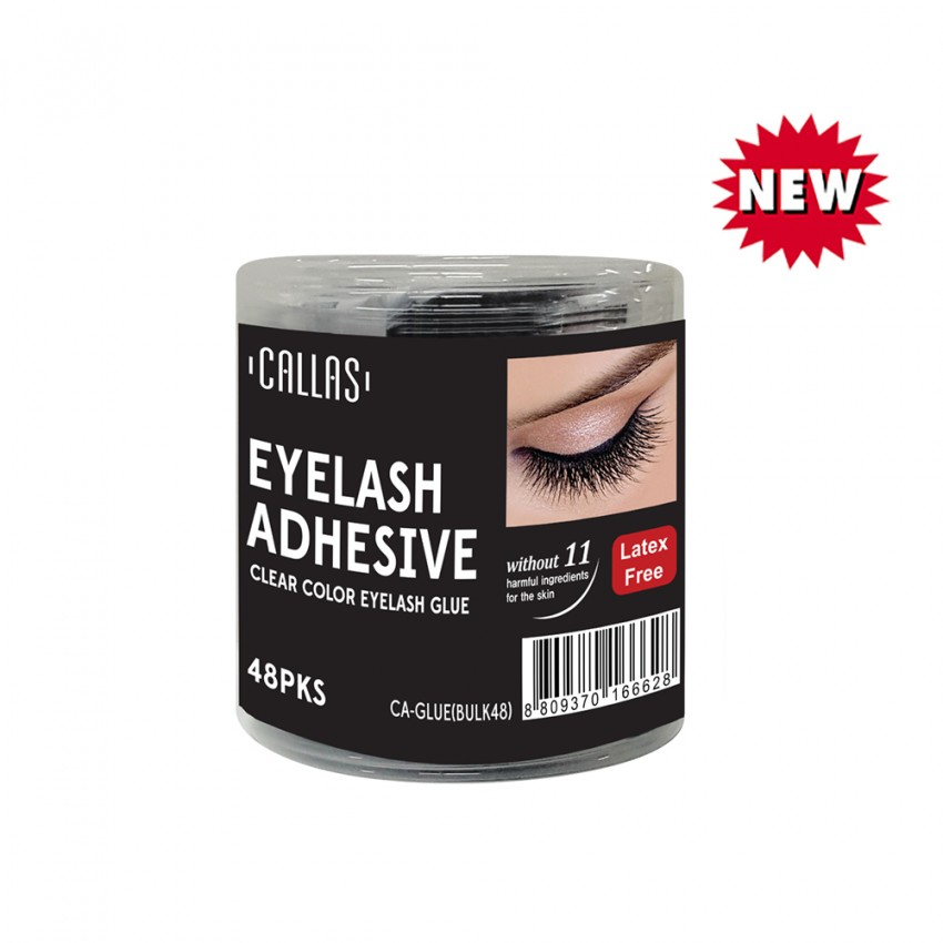 CALLAS Eyelash Adhesive - CLEAR COLOR EYELASH GLUE - 48PKS