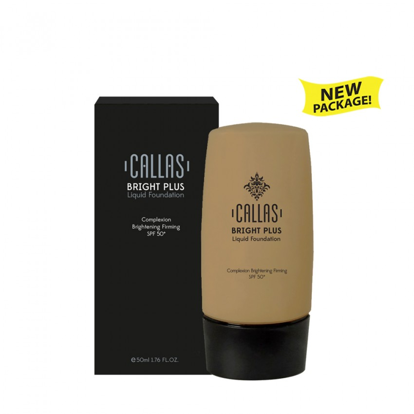Callas Bright Plus Liquid Foundation SPF 50 (CBPF 03 Deep Beige) 1.7fl.oz / 50ml