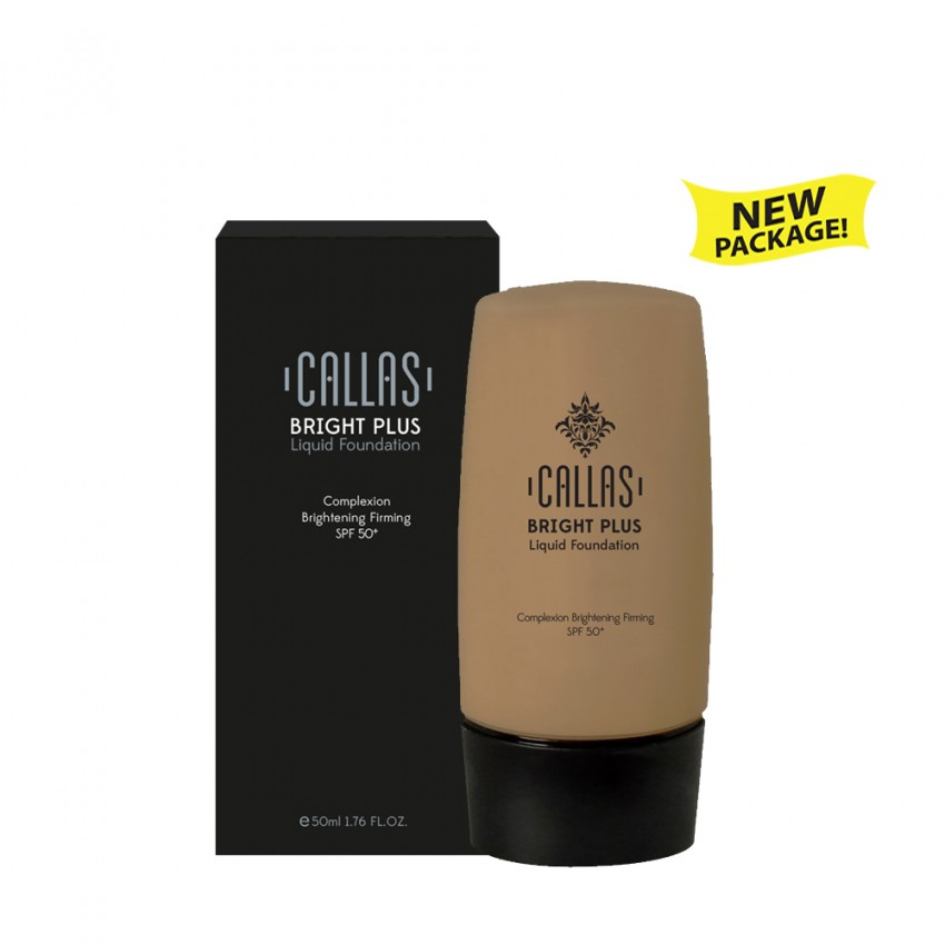 Callas Bright Plus Liquid Foundation SPF 50 (CBPF 04 Dark Honey) 1.7fl.oz/50ml