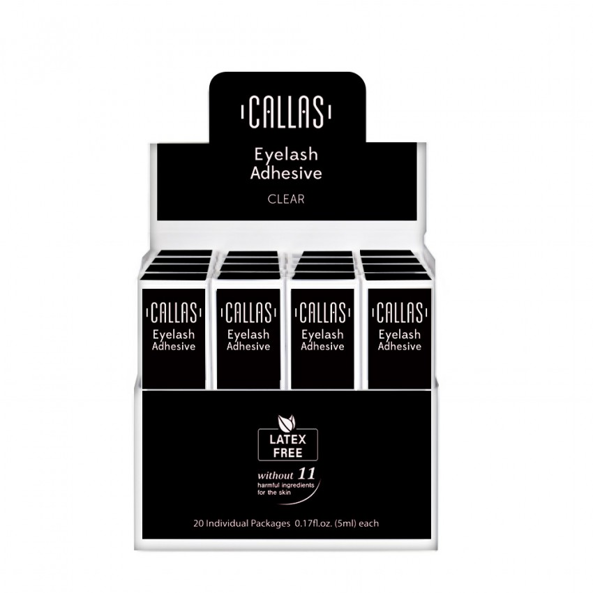 Callas Eyelash Adhesive with Display Latex Free 20 pcs (Black)