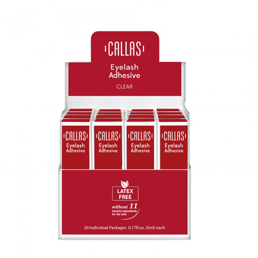 Callas Eyelash Adhesive with Display Latex Free 20 pcs (Clear)