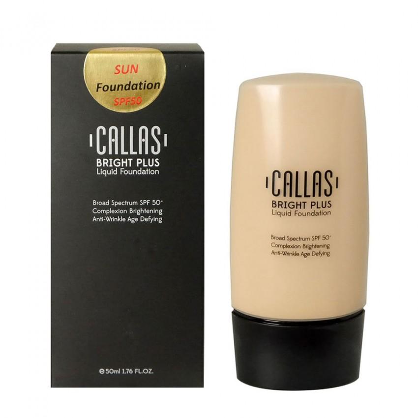 Callas Bright Plus Liquid Foundation SPF 50 (CBPF 03 Deep Beige) 1.7fl.oz/50ml