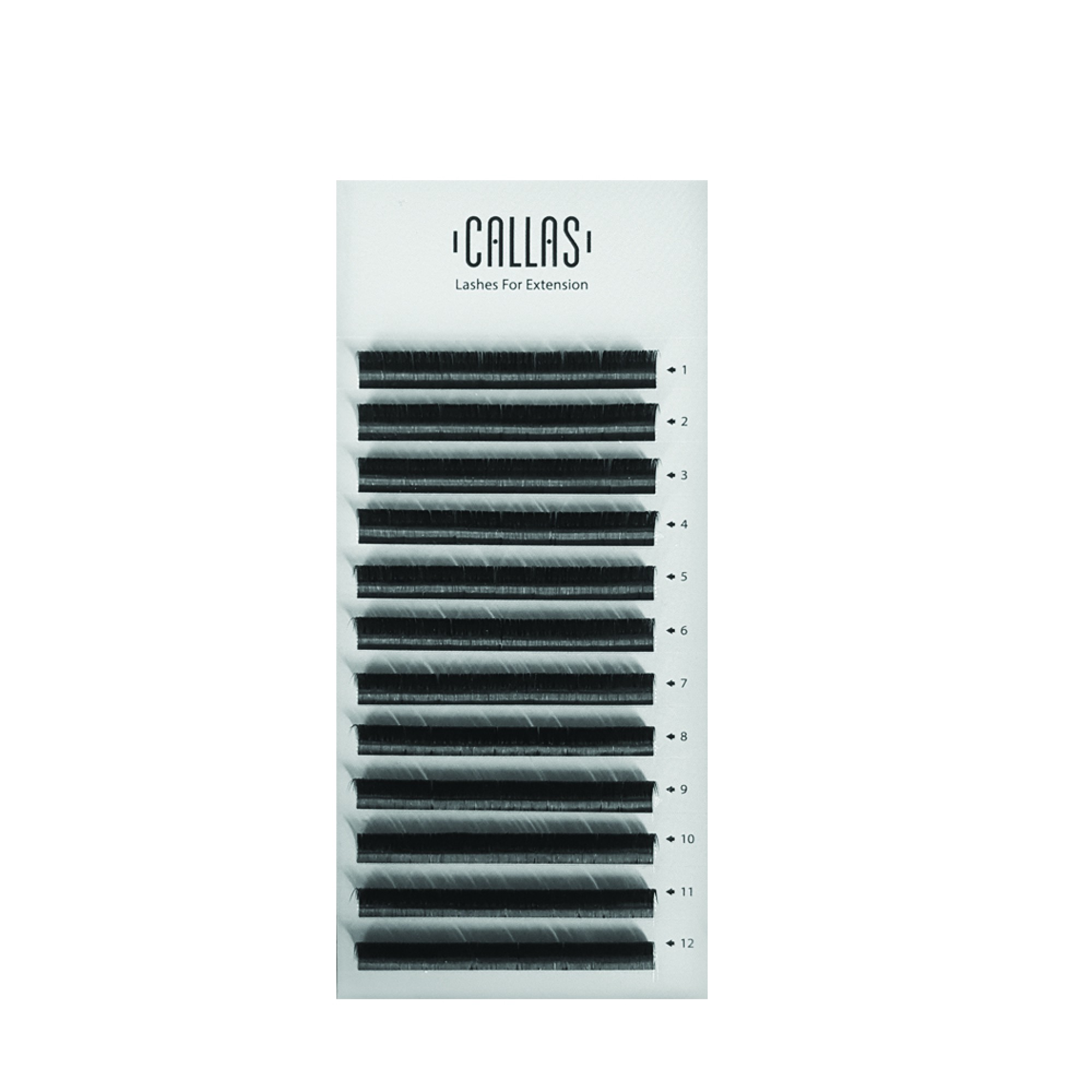 Callas Lashes For Extensions, 0 05mm D Curl, Individual