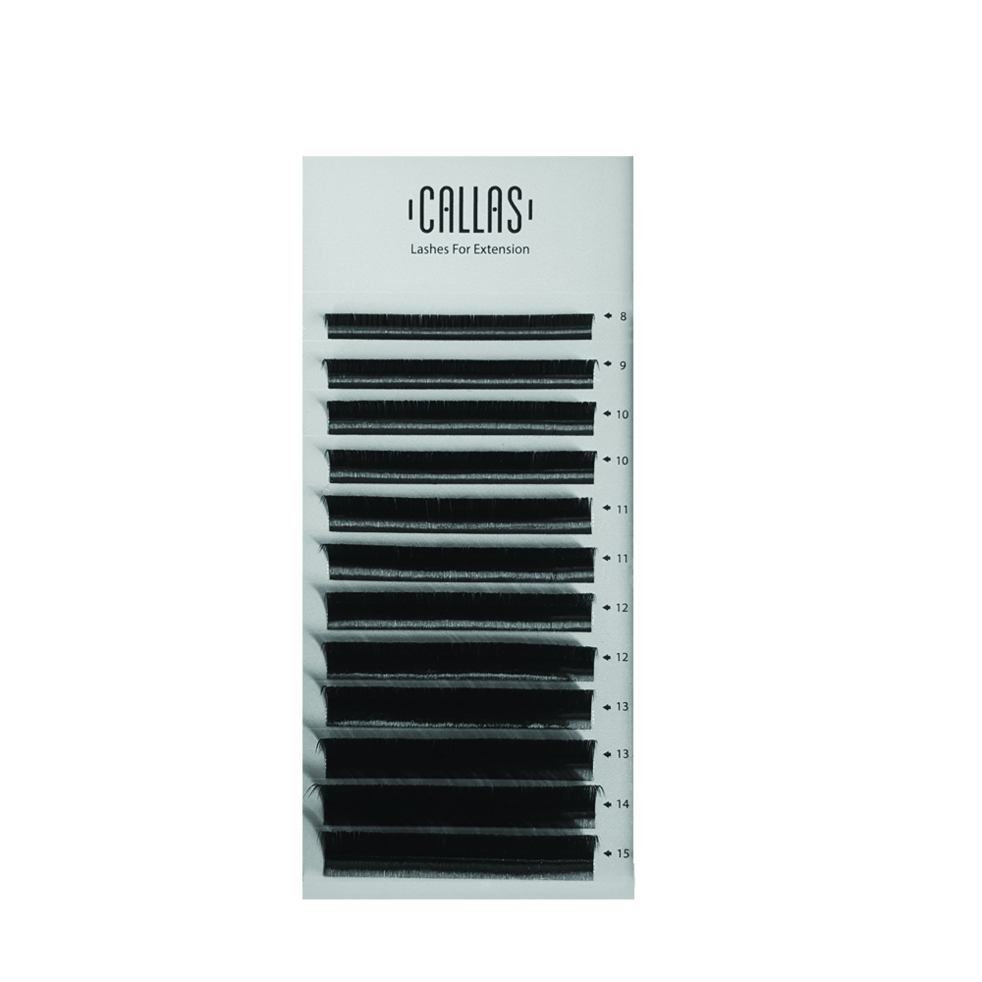 Callas Lashes For Extensions, 0 05mm D Curl Mixed Tray