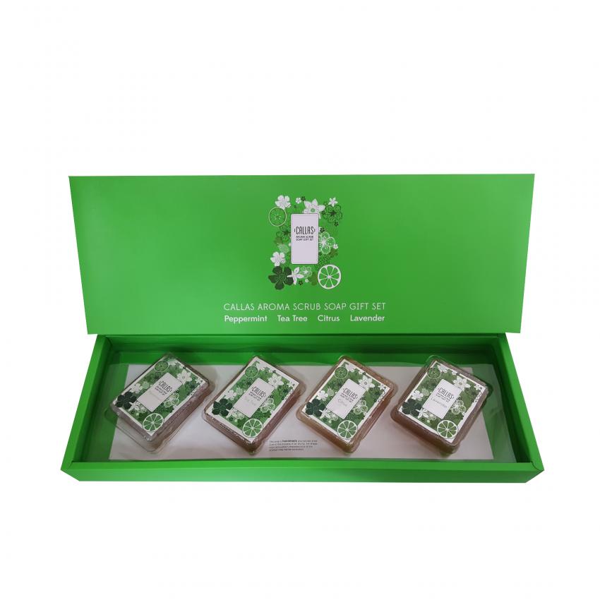 Callas Aroma Scrub Soap Gift Set (3.88oz /110g x 4)