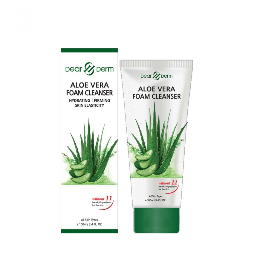 Dearderm ALOE VERA Foam Cleanser 100ml/ 3.4 fl.oz.