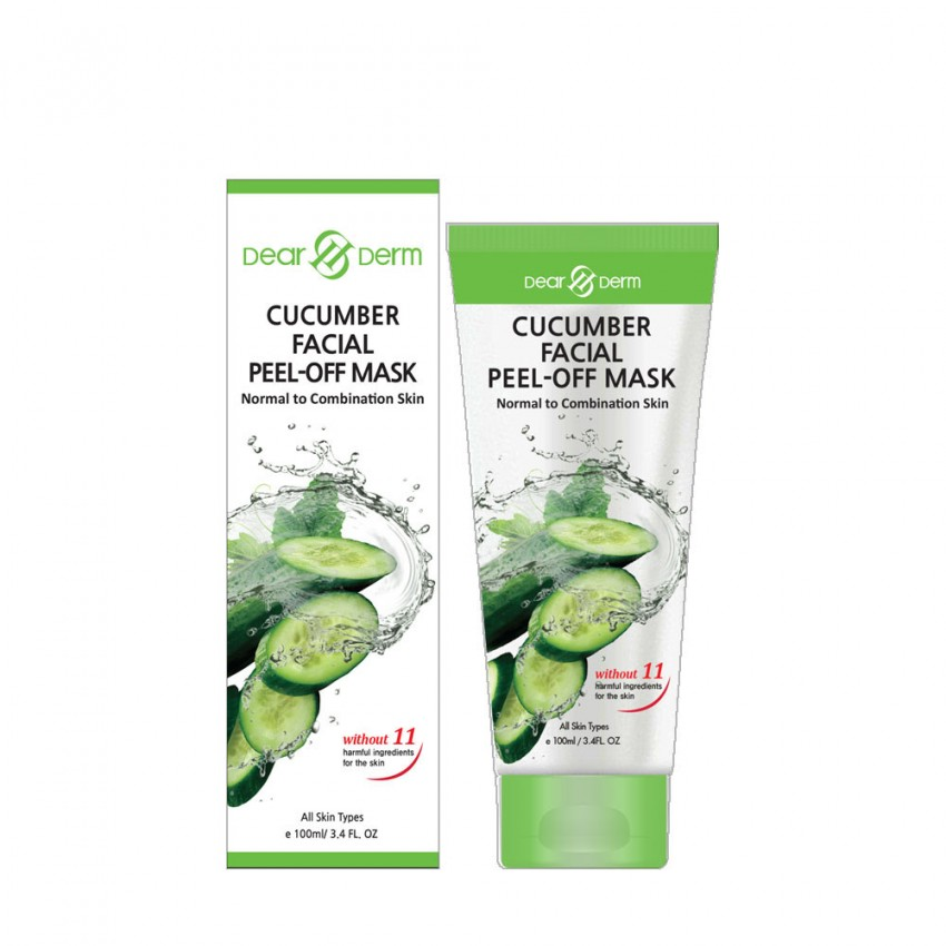 Dearderm Cucumber Facial Peel-Off Mask Normal to Combination Skin 100ml/ 3.4 fl.oz.