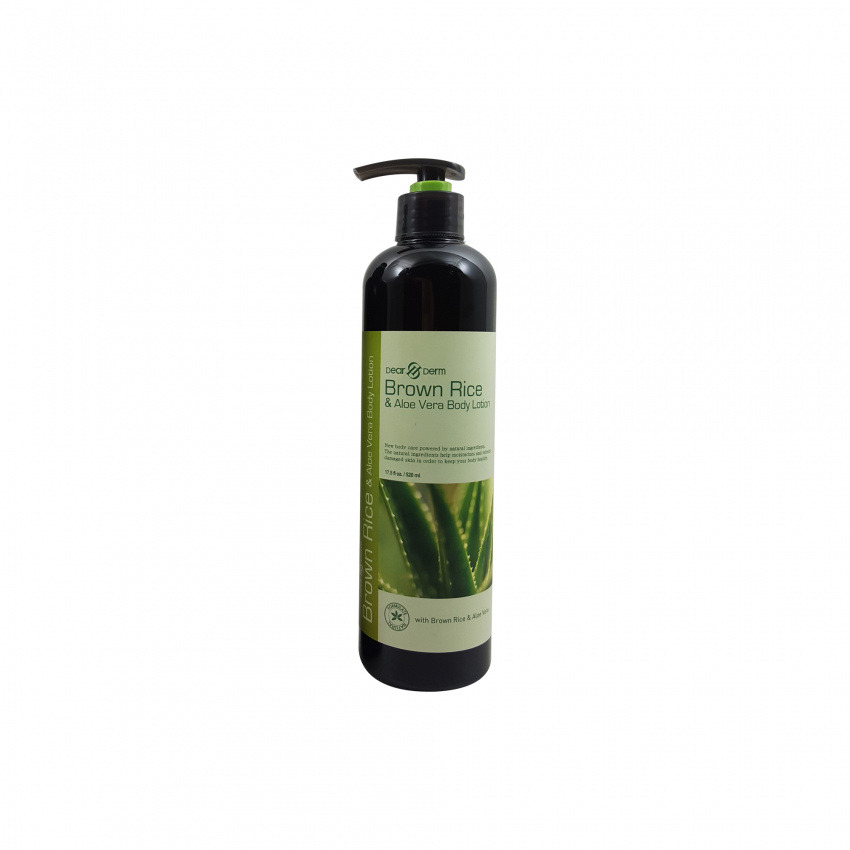 Dearderm Brown Rice & Aloe Vera Body Lotion 17.50 fl.oz. / 520ml