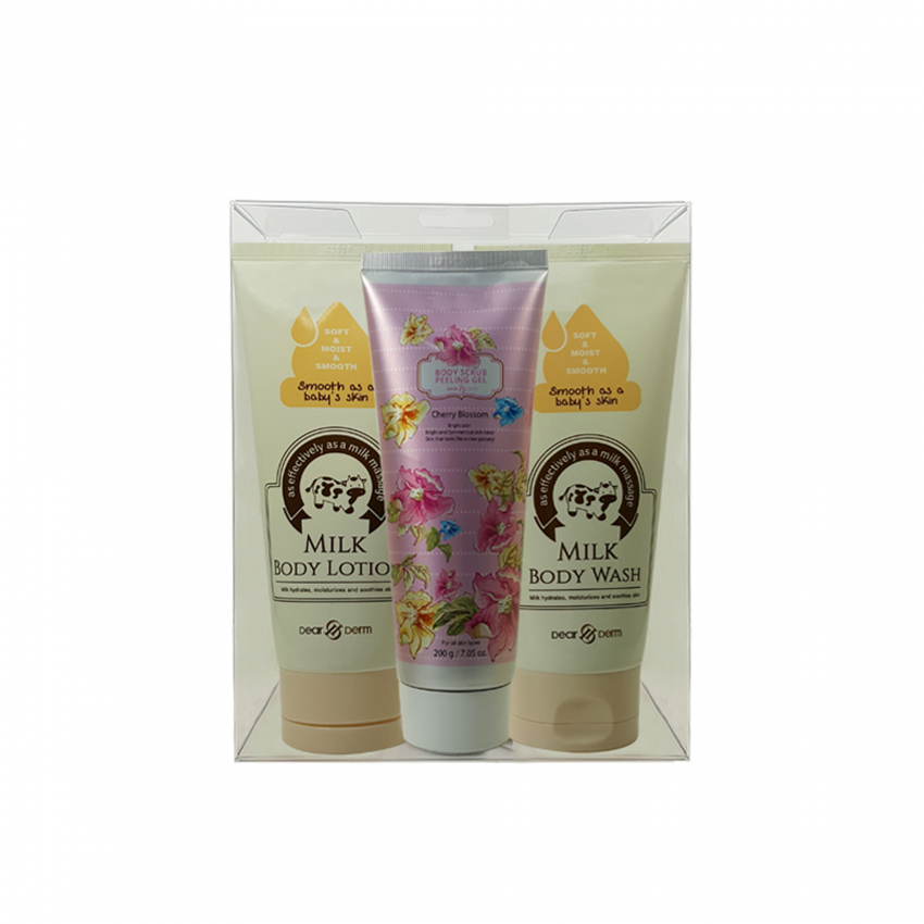 Dearderm Milk Body Set