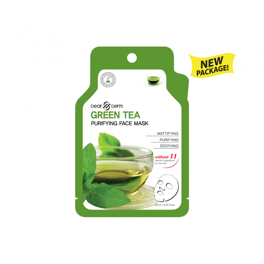 Dearderm Green Tea Age-Eraser Face Mask 25ml / 0.85 fl.oz.