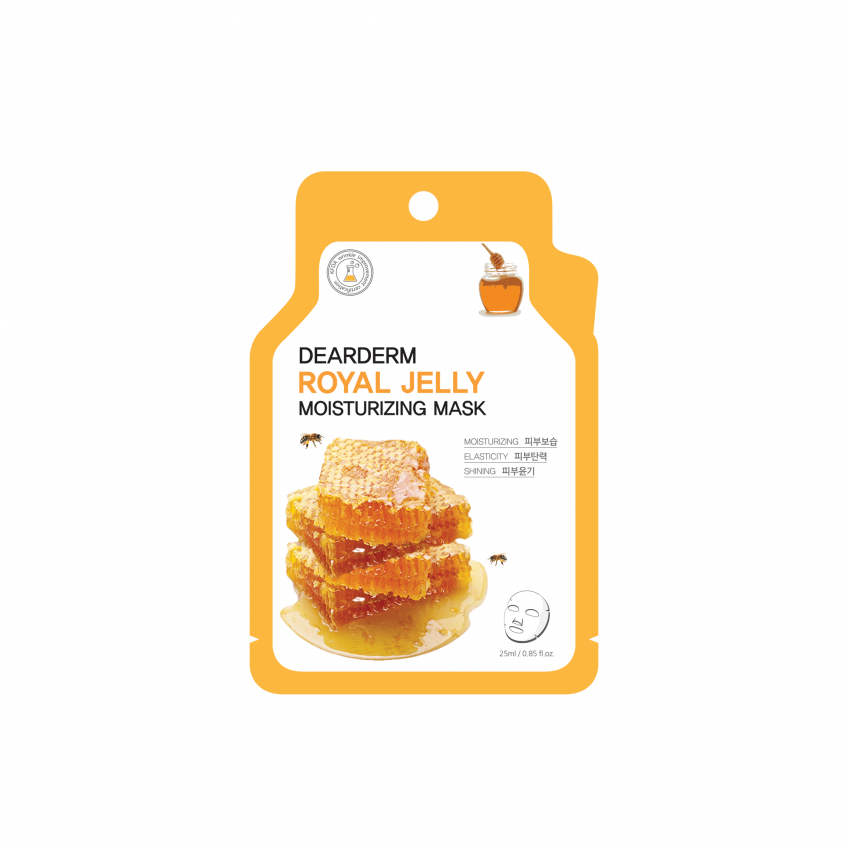 Dearderm Royal Jelly (Honey) Moisturizing Face Mask 25ml / 0.85 fl.oz.