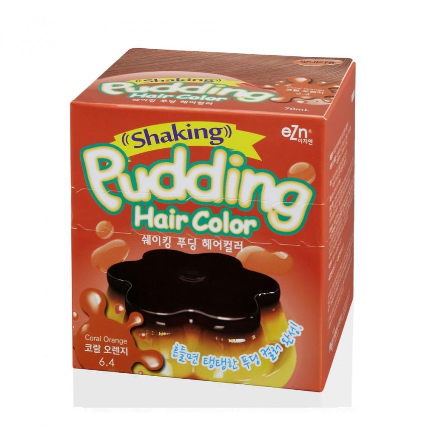 Dongsung eZn Shaking Pudding Hair Color (Coral Orange 6.4) 2.37oz/67g