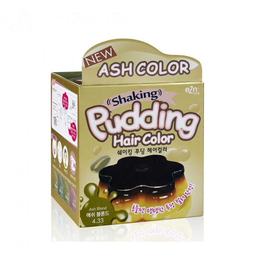 Dongsung eZn Shaking Pudding Hair Color (Ash Blonde 4.33) 2.37oz/67g