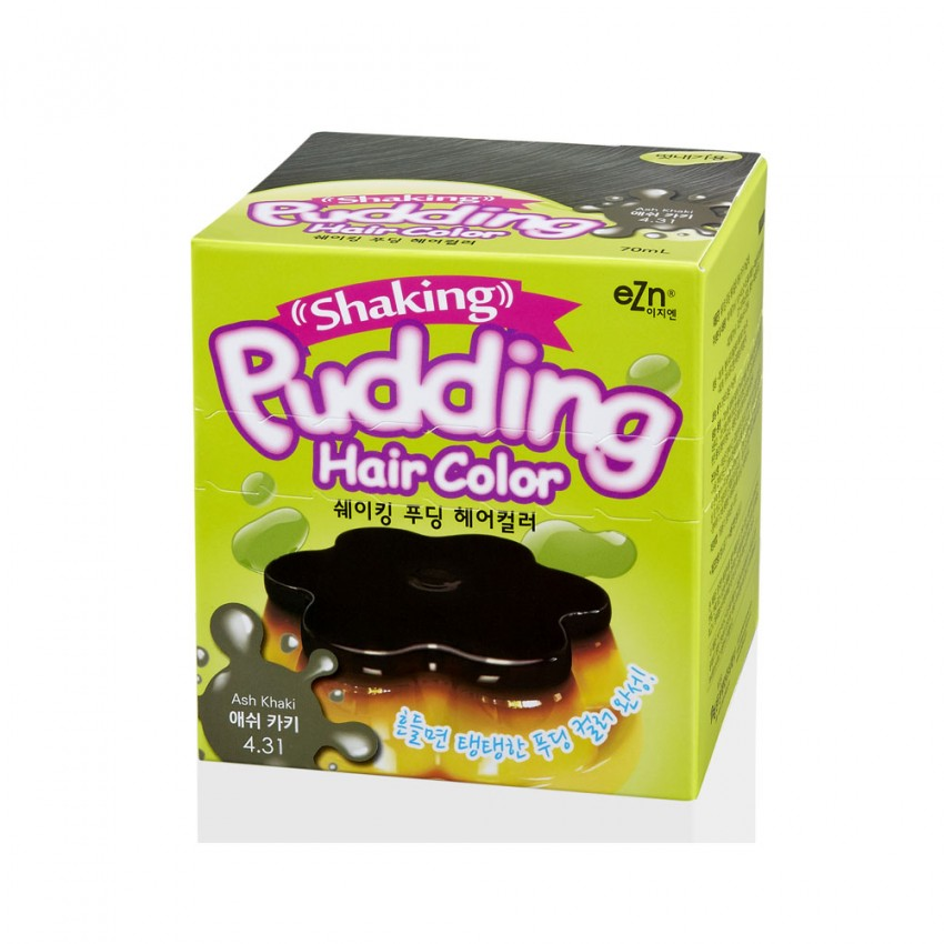 Dongsung eZn Shaking Pudding Hair Color (Ash Kahki 4.31) 2.37oz/67g