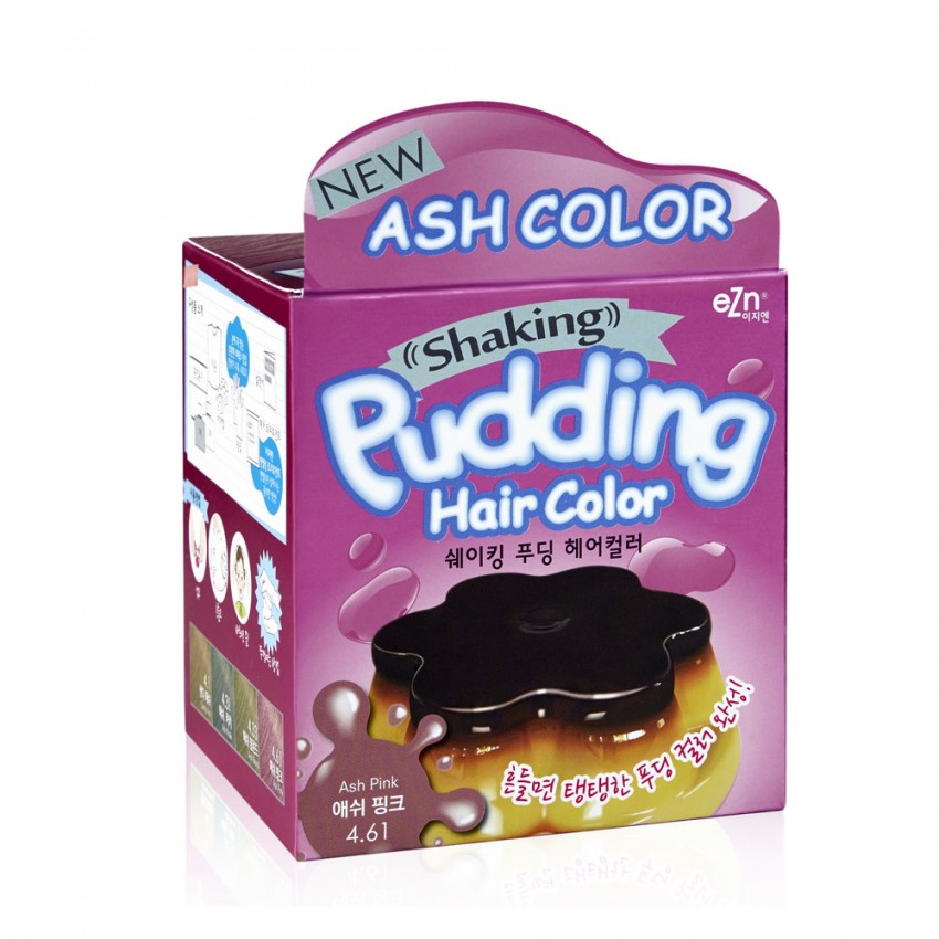 Dongsung eZn Shaking Pudding Hair Color (Ash Pink 4.61) 2.37oz/67g