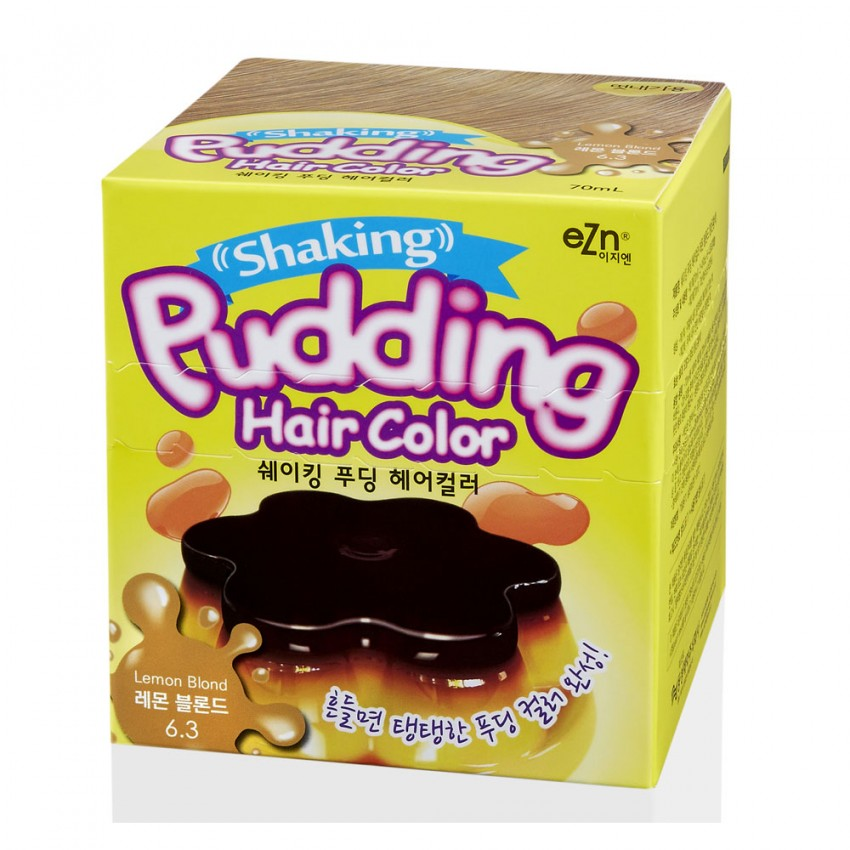Dongsung eZn Shaking Pudding Hair Color (Lemon Blonde 6.3) 2.37oz/67g