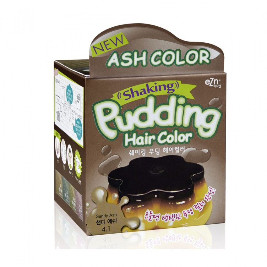 Dongsung eZn Shaking Pudding Hair Color (Sandy Ash 4.1) 2.37oz/67g