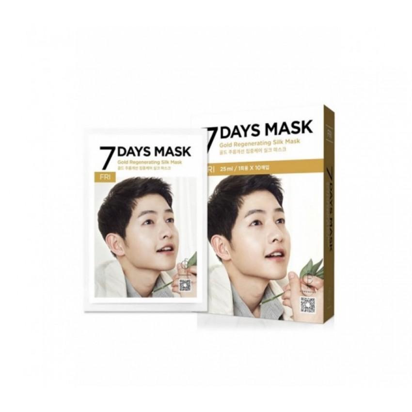 Forencos 7 Days Mask Friday Gold Regenerating Silk Mask (10 Sheets) 0.84fl.oz/25ml