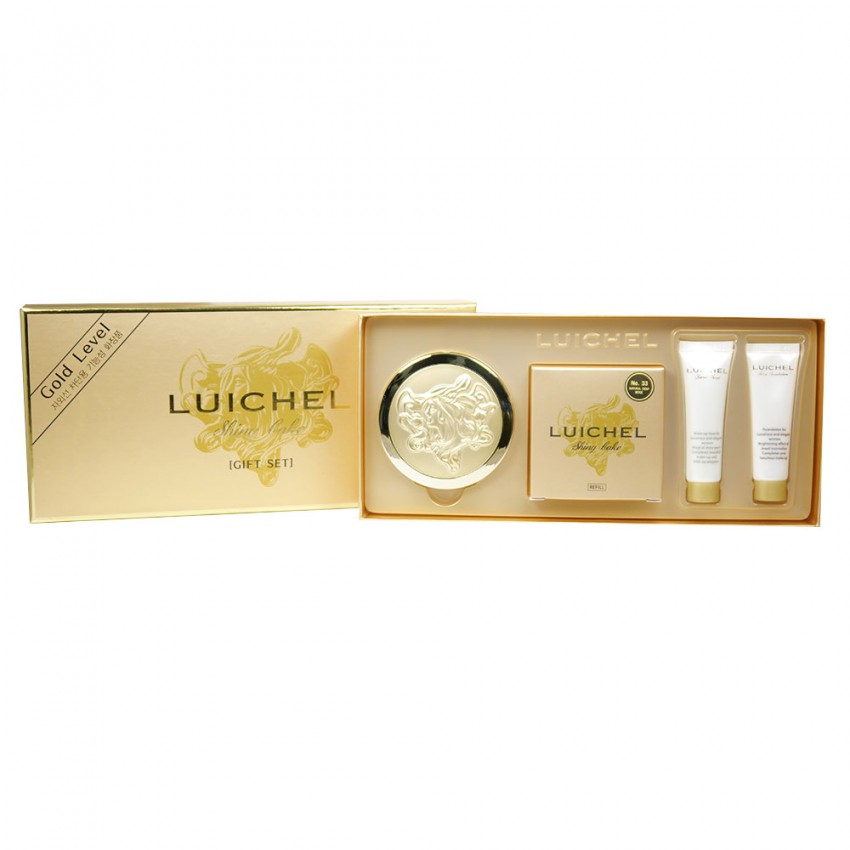 Hanbul Cosmetics Luichel Gold Level Shiny Cake SPF15 (33 Natural Deep Beige)