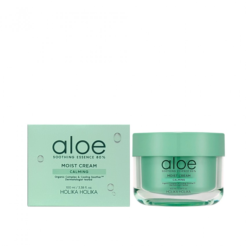 HOLIKA HOLIKA ALOE SOOTHING ESSENCE 80% MOIST CREAM - 100ml / 3.38 fl.oz.