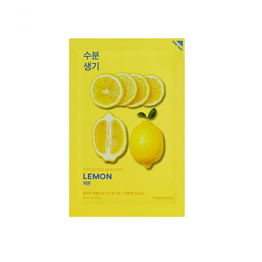 Holika Holika Pure Essence Mask Sheet - Lemon (10pcs)
