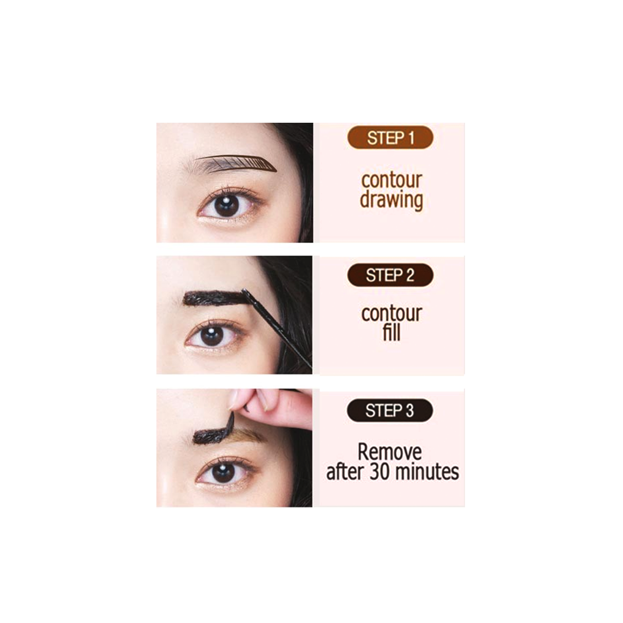 Holika Holika Wonder Drawing Tattoo Pack Brow2 Dark Brown