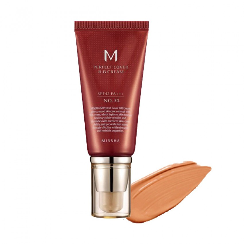 Missha M Perfect Cover  BB Cream SPF 42 PA+++ (No.31 Golden Beige) 1.69oz/50ml
