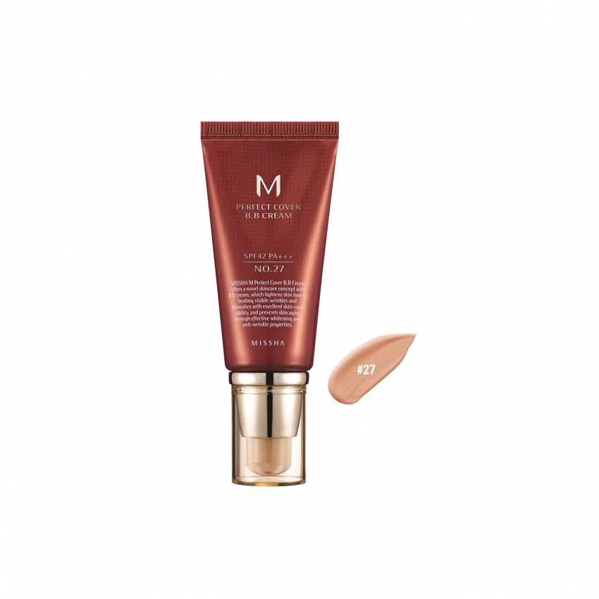 Missha M Perfect Cover  BB Cream SPF 42 PA+++ (No.27 Honey Beige) 1.69oz / 48g / 50ml