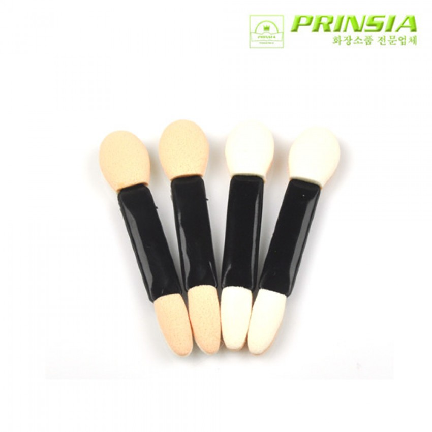 Prinsia Double Sponge Eyeshadow Tip Applicator with Clear Container (4 pcs)/12pack