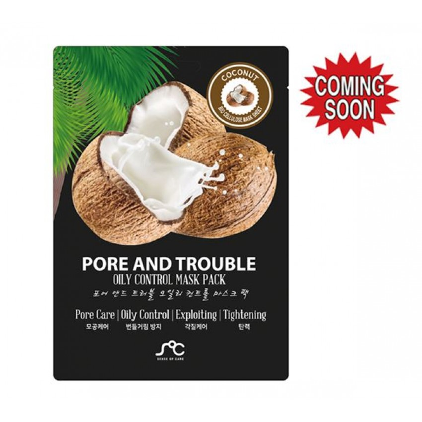 Sense Of Care Pore And Trouble Oily Control Mask Pack (10pcs)