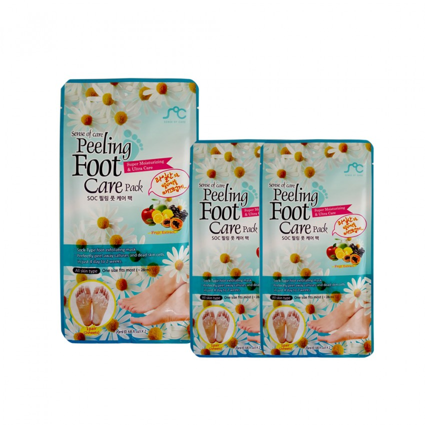Sense of Care Peeling Foot Care Pack 2x 0.68fl.oz/20ml/10pcs