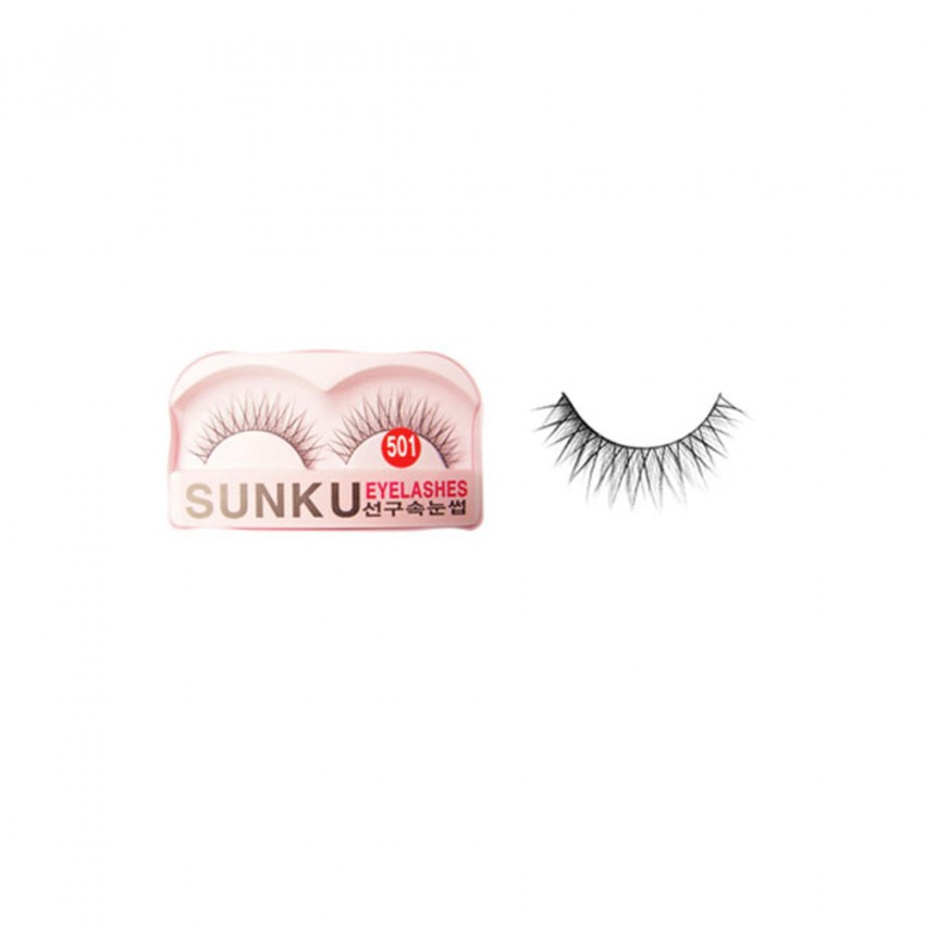 Sunku Eyelash with Glue (501) x Minimum 10 Pcs