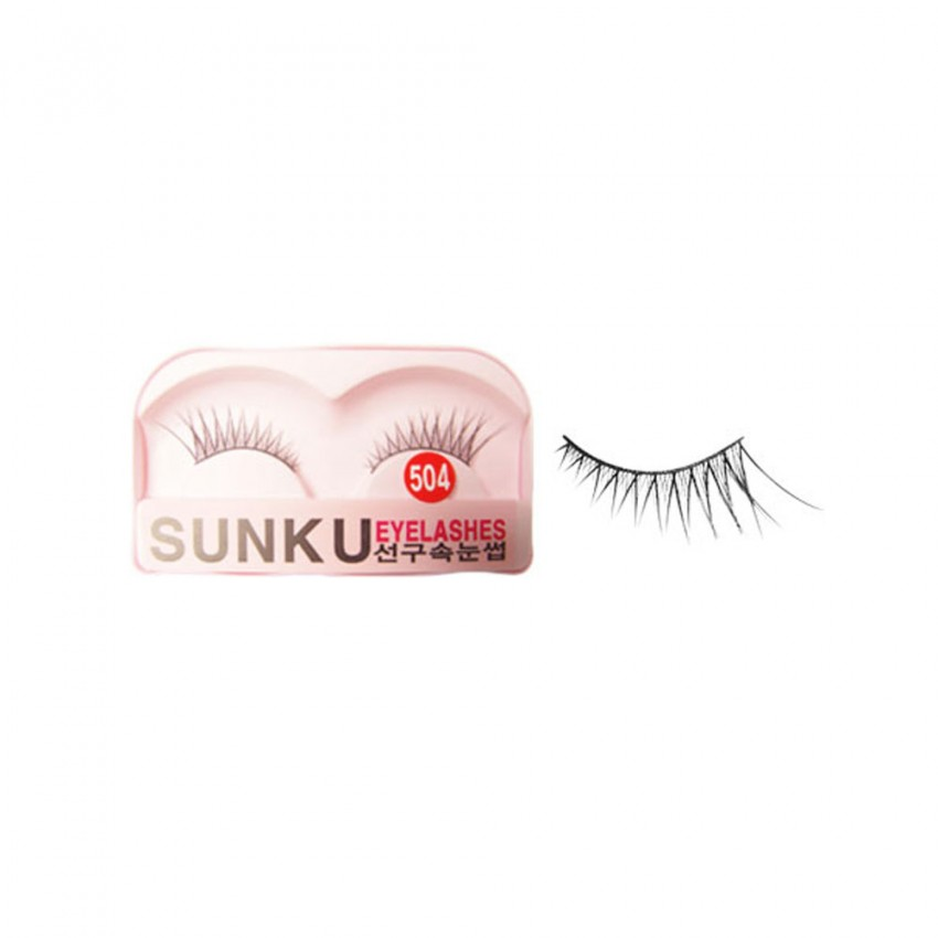 Sunku Eyelash with Glue (504) x 10 Pcs