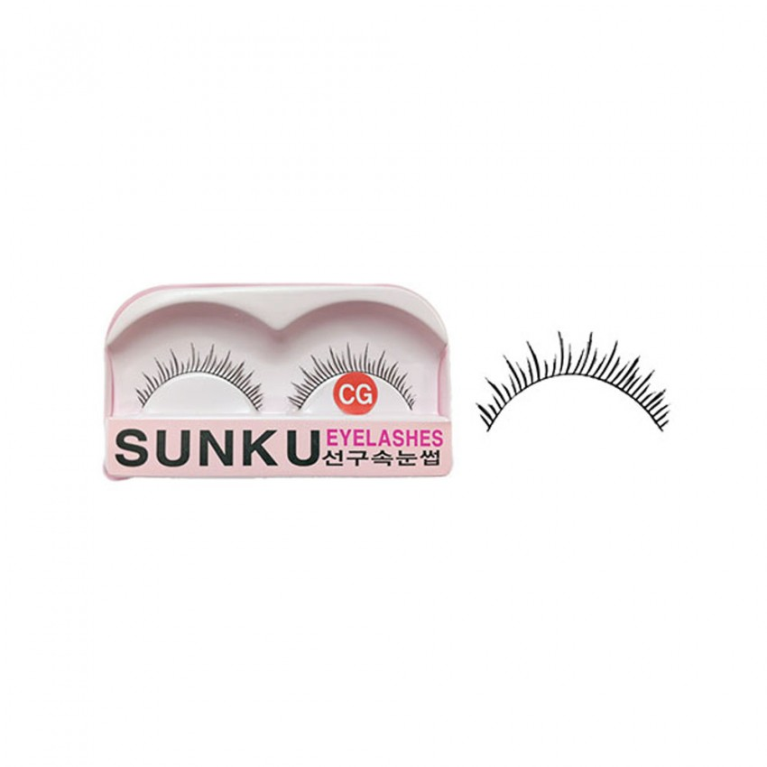 Sunku Eyelash with Glue (CG)x 10 Pcs