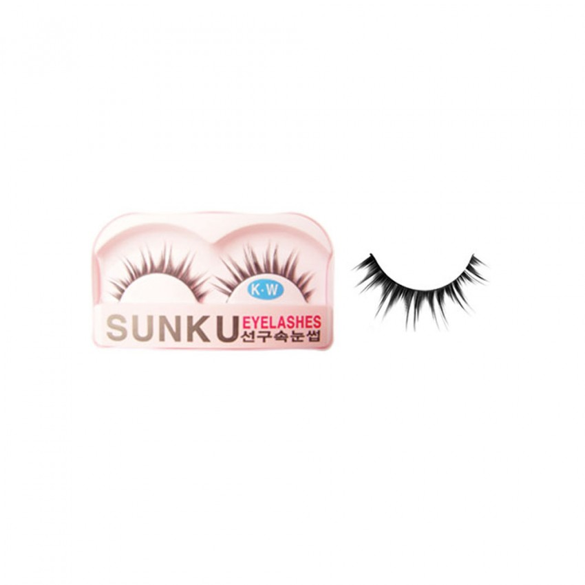 Sunku Eyelash with Glue (KW)x 10 Pcs